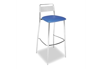 Silk Back Blue Barstool (Barstools) in Orlando