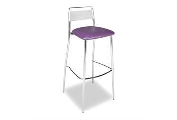 Silk Back Purple Barstool (Barstools) in Orlando