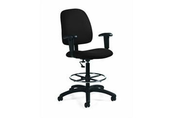 Drafting Chair Black Goal (Chairs - Office) in Orlando