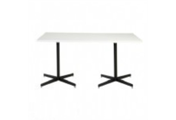 Easy Rectangle Black Base White Top Dining Table (Tables - Dining) in Orlando