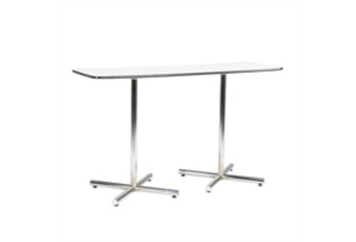 Easy Rectangle Chrome Base White Top Dining Table (Tables - Dining) in Orlando