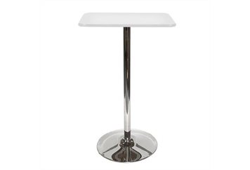Spectrum Tulip Base White Top Highboy Table (Tables - Highboy) in Orlando