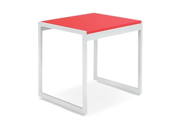 Aria Red End Table (Tables - End) in Orlando