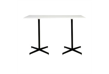 Easy Rectangle Black Base White Top Highboy Table Large (Tables - Highboy Large) in Orlando