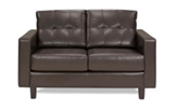 Love-Seats-Parma-Loveseat-Brown-vinyl