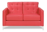 Love-Seats-Chandler-Loveseat-Red-vinyl