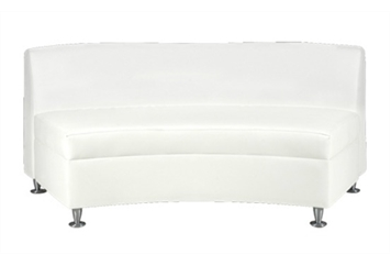 Continental Curved Loveseat Sectional (Loveseats) in Orlando