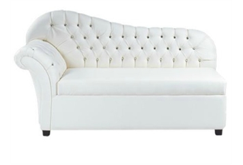 Crystal Tufted Chaise Loveseat (Loveseats) in Orlando