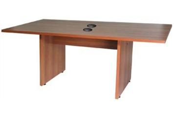 Conference Table Honey Oak Charged (Charging Furniture) in Orlando