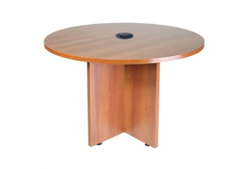 Conference Table Honey Oak Round (Tables - Conference) in Orlando