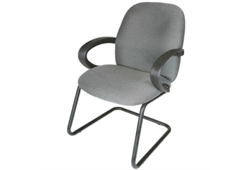 Guest Chair Gray Sled (Chairs - Executive) in Orlando