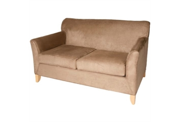 Newport Suede Loveseat Tan (Loveseats) in Orlando
