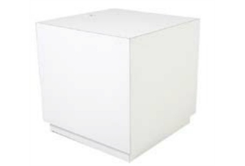 South Beach Cube End Table White (Tables - End) in Orlando