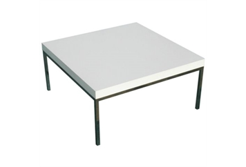 South Beach White & Chrome Coffee Table (Tables - Coffee) in Orlando