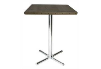 Spectrum Chrome Base Wood Top Highboy Table (Tables - Highboy) in Orlando