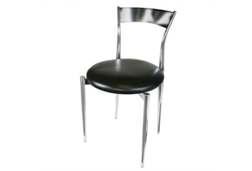 Thin Back Black & Chrome Chair (Chairs - Dining) in Orlando