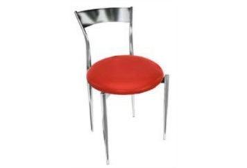 Thinback Red & Chrome Dining Chair (Chairs - Dining) in Orlando