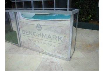 Mirrored Bar Branded with Custom Etched Logo (Bars) in Orlando