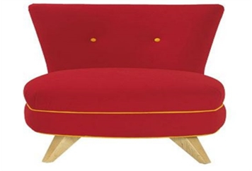 Portly Chair Red (Chairs - Accent and Lounge) in Orlando