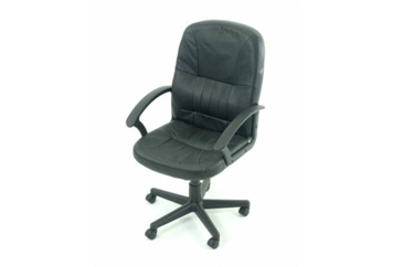 Executive Chair Black Leather 2 (Chairs - Office) in Orlando