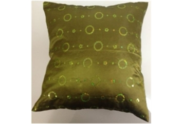 Pillow Chartruese with Sequin Circles (Pillows) in Orlando