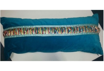 Pillow Morrocaan Turquoise Rectangular Pillow with Ribbon (Pillows) in Orlando