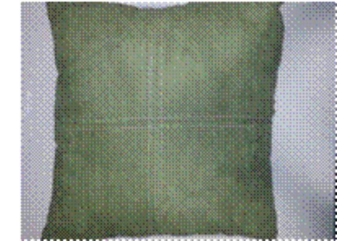 Pillow Moss Green Suede with Stitches (Pillows) in Orlando