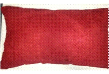 Pillow Red Suede Rectangular (Pillows) in Orlando