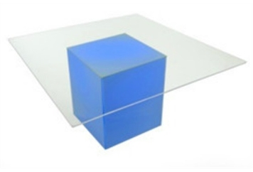 LED Acrylic Clear Square Top Highboy Table Large (Tables - Highboy Large) in Orlando