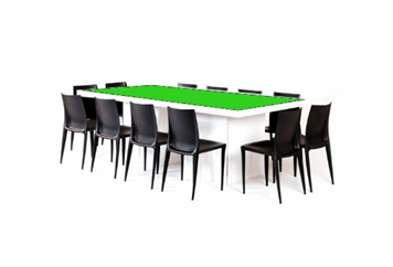 Acrylic Green Top Dining Table (Tables - Dining) in Orlando
