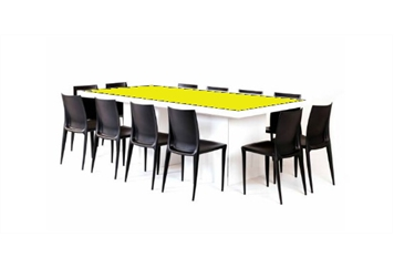 Acrylic Yellow Top Dining Table (Tables - Dining) in Orlando
