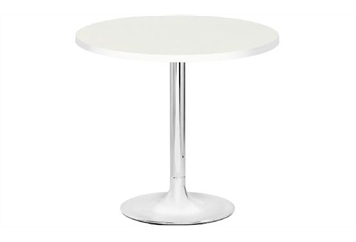 Easy Chrome Tulip Base White Top Cafe Table (Tables - Cafe) in Orlando
