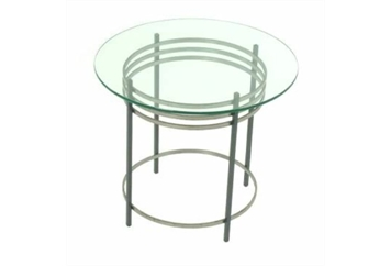 Natural Steel End Table (Tables - End) in Orlando