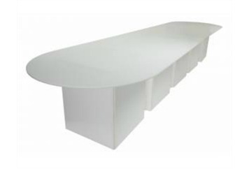 White Acrylic Conference Table (Tables - Conference) in Orlando