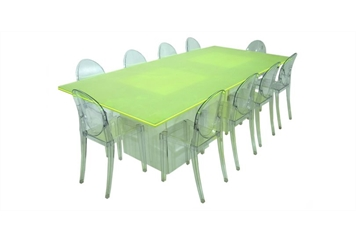 Acrylic Neon Green Dining Table (Tables - Dining) in Orlando