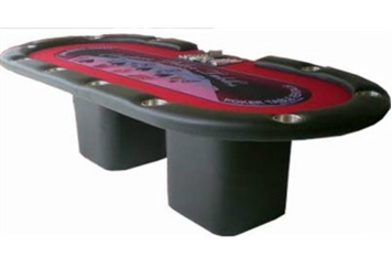 Red and Black Poker Table (Casino Games) in Orlando