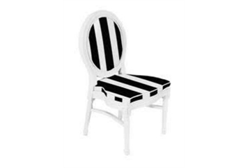 Medallion White With Black And White Chair (Chairs - Dining) in Orlando