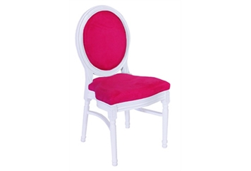 Medallion White With Pink Chair (Chairs - Dining) in Orlando