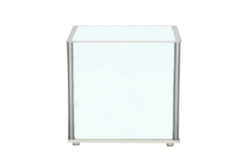 LED Acrylic End Table with Silver Frame (Tables - End) in Orlando