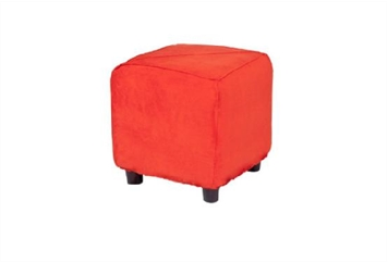 Minotti Cube Ottoman - Red Orange (Ottomans) in Orlando