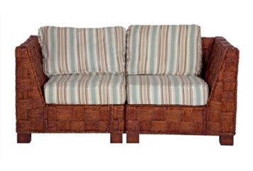 Summer Breeze Striped Loveseat Sectional (Loveseats) in Orlando