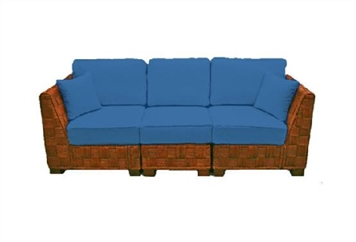 Summer Breeze Blue Sofa Sectional (Sofas) in Orlando