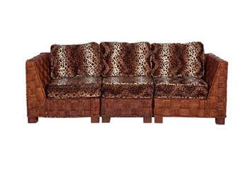 Summer Breeze Leopard Sofa Sectaional (Sofas) in Orlando