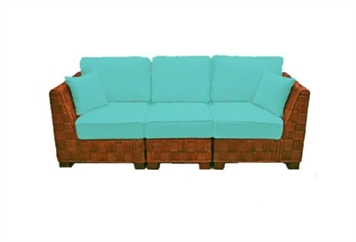 Summer Breeze Turquoise Sofa Sectional (Sofas) in Orlando