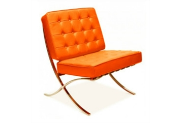 Barcelona Orange Chair (Chairs - Accent and Lounge) in Orlando