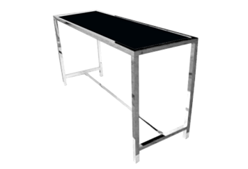 Moma Highboy Large Silver Black Top (Tables - Highboy Large) in Orlando