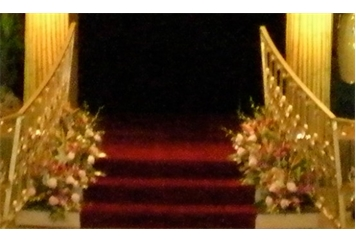 Stairs - Gold Railing (Staging) in Orlando