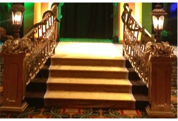 Stairs - Gold Pedestal Ends (Staging) in Orlando